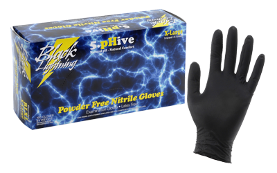 Black Lighting Powder Free Nitrile Gloves Medium (100/Box)