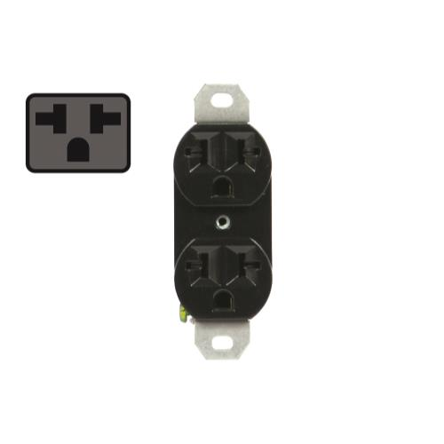 120/240 20A-univeral duplex outlet black Receptacle