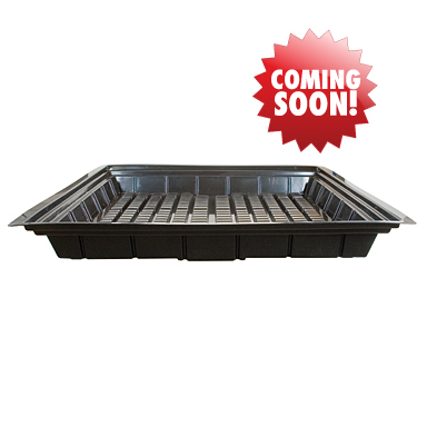 4' x 4' Economy Line Black Flood Tray