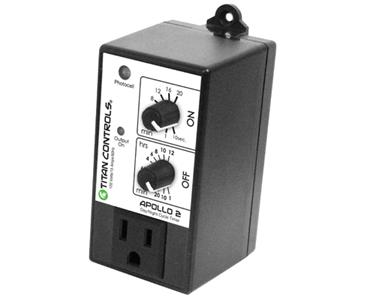 TITAN CONTROLS® APOLLO 2™ - DAY & NIGHT PERIODIC CYCLE TIMER W/ PHOTOCELL