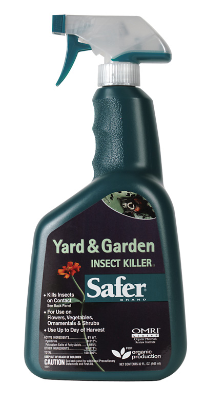 SAFER� BRAND YARD & GARDEN INSECT KILLER OMRI LISTED - 32OZ RTU (12/CASE)S)