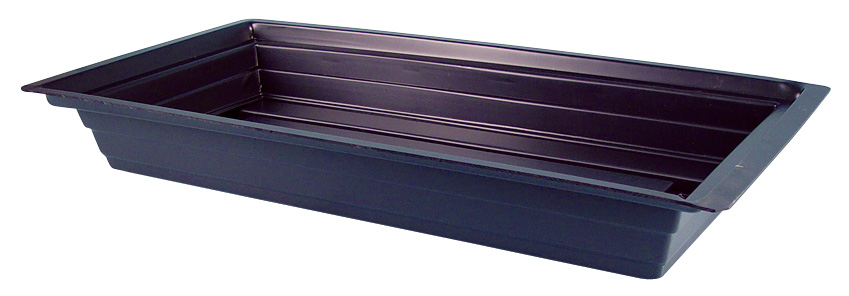 "BLACK GROW TRAY-STYRENE PLASTIC - 48"" X 25"" X 7"""