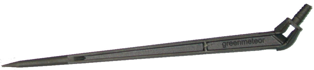 "DRIPPER STAKE 45 DEGREE ANGLE - FITS 1/4"" IRRIGATION TUBING (BAG of 100)"