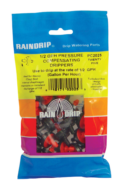 RAIN DRIP 1/2 GPH DRIPPERS BAG of 25