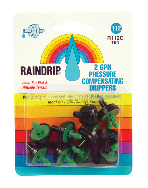 RAIN DRIP 2 GPH DRIPPERS BLISTER CARD