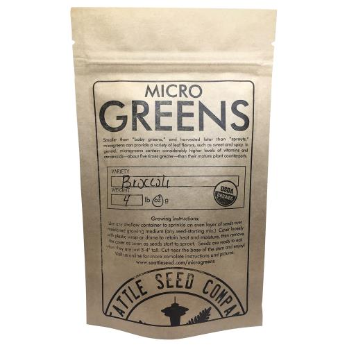 Broccoli for Microgreens 1/4 lb (Sealed Bag) (Case of 6)