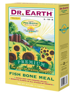 DR. EARTH� FISH BONE MEAL 3-18-0 - 2.5 LB SIZE (12/CASE)
