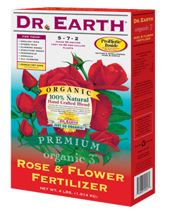 DR. EARTH� ROSE & FLOWER FERTILIZER 5-7-2 - 4 LB SIZE (12/CASE)