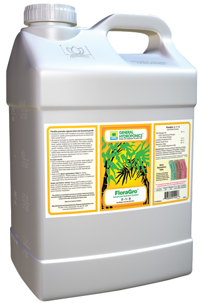 GHBB� FLORA GRO� 2.5 GALLON (2/CASE)