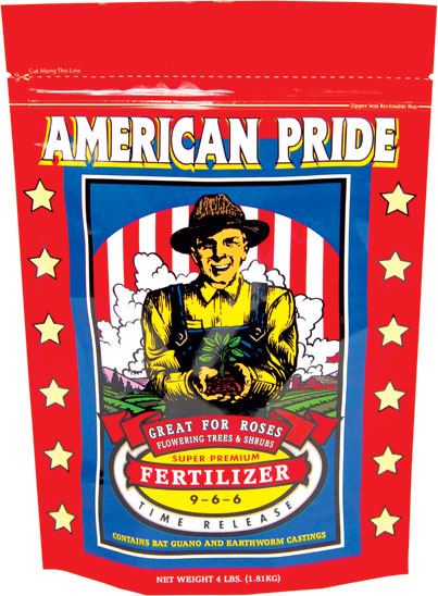 FOX FARM AMERICAN PRIDE� ORGANIC BASED DRY MIX 9-6-6 - 4 LB (8/CASE)