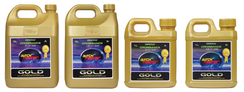 DUTCH MASTER� GOLD GROW A 5-0-2.9 - 1.32 GALLON (2 x 5L/CASE)