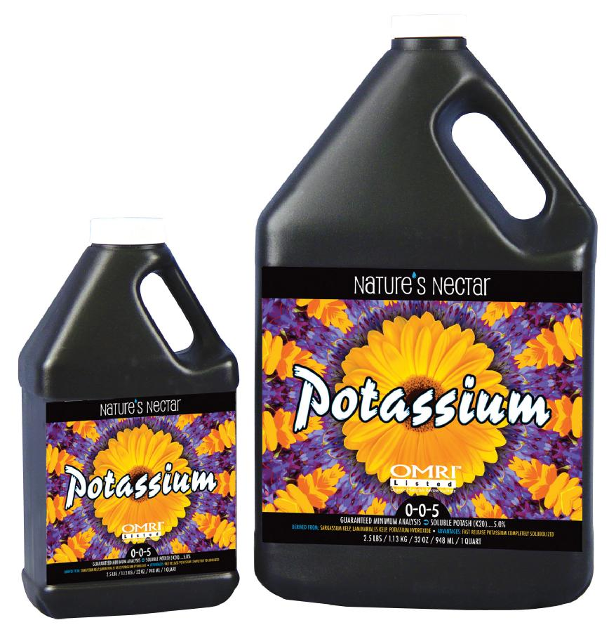 HYGROCORP® NATURE'S NECTAR™ POTASSIUM 0-0-5 - Organic - GALLON (4/CASE)