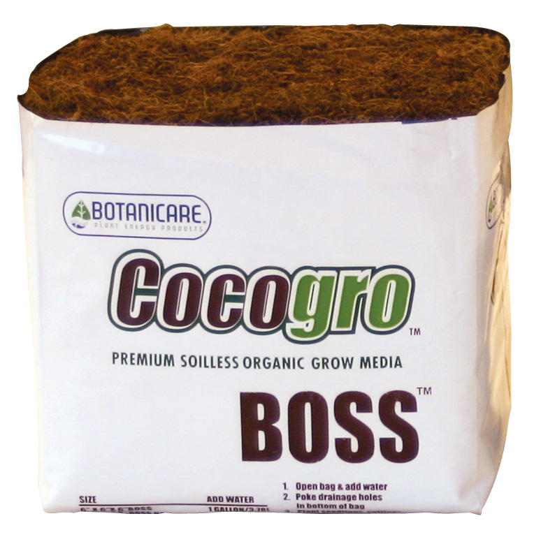 "BOTANICARE� BOSS� COCOGRO�  - 6"" CUBE (CASE of 24) PREMIUM SOILESS ORGANIC GROW MEDIA"