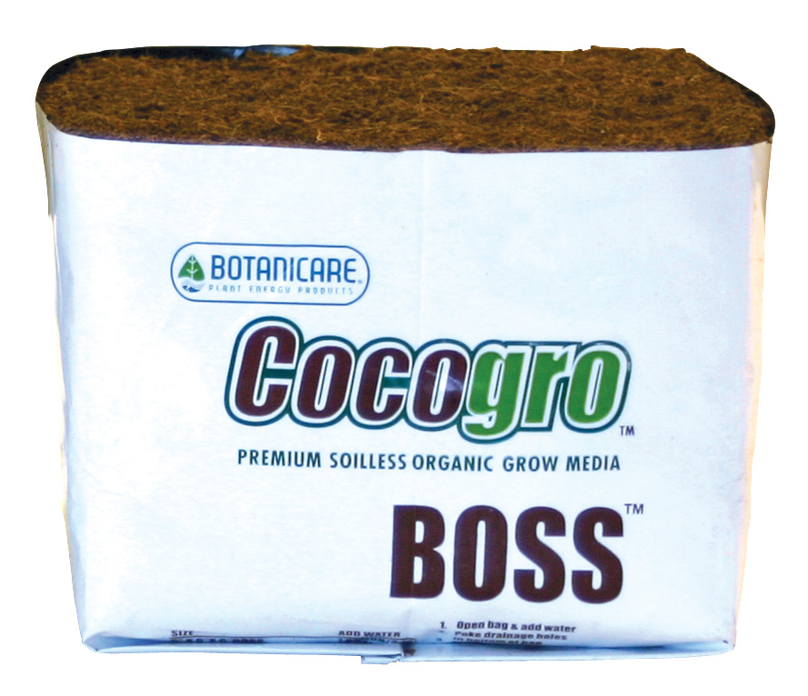 "BOTANICARE� BOSS� COCOGRO� PREMIUM SOILESS ORGANIC GROW MEDIA - 8"" CUBE (CASE of 12)"