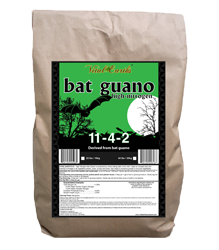 Vital Earth's High Nitrogen Bat Guano 11-4-2 22lbs