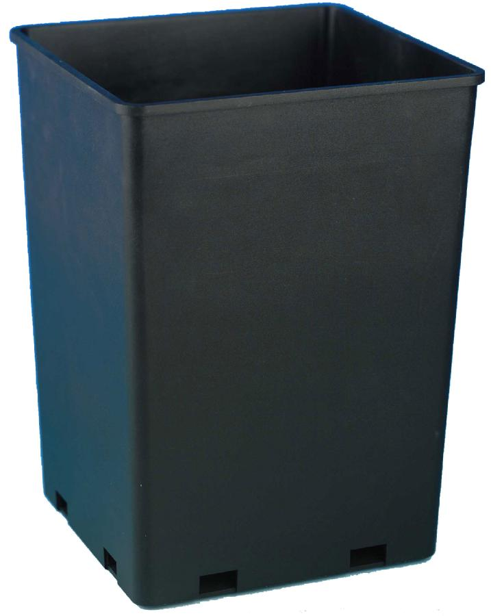 "ROSE BUCKET SQUARE - 7.6"" X 7.6"" X 9.7"" - CAPACITY = 1.7 GALLONS (10/CASE)"