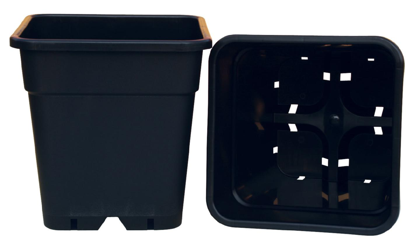 "THE GIANT POT SQUARE - 12"" X 12"" TOP / 8.5"" X 8.5"" BOTTOM X 12"" HIGH - CAPACITY = 4.75 GALLONS (25/CASE)"
