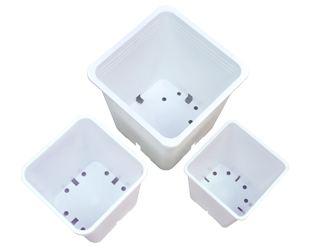 Gro Pro Premium White Square Pot 7in x 7in x 9in (100/Cs)