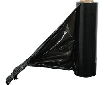 "BLACK STRETCH WRAP 18"" x 1500' 80 GAUGE"