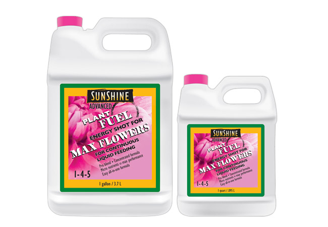 Sunshine Advanced PLANT FUEL MAX FLOWERS QUART 1-4-5