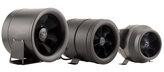 High Flow Vent Fan : Hurricane after burner inline fan in