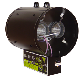 "UVONAIR 10"" CD IN LINE DUCT OZONATOR - 2 CELL"