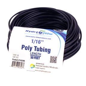 Hydro Flow Poly Tubing 1/16in ID x 1/8in OD 50ft Roll