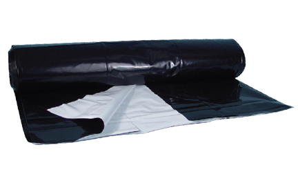 Black white poly sheeting 5 mil 50ft x 100ft 748536 reflective