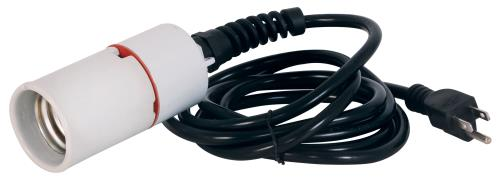 8' POWER CORD W/ MOGUL BASE SOCKET (FOR SELF-BALLASTED CFL/LED LAMPS)