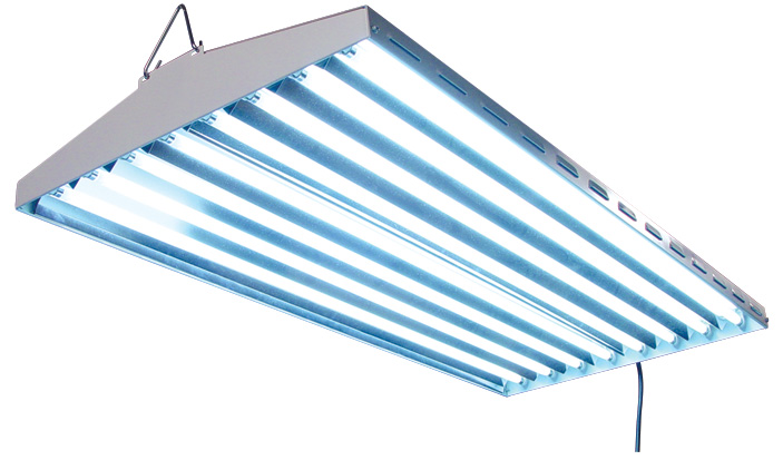 "SUN SYSTEM�  NEW WAVE� T5 - 48 FLUORESCENT LIGHTING FIXTURE 4' - 8 LAMP (47"" L X 21"" W X 3.5"" H) (40,000 LUMENS)"