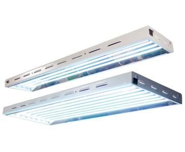 "SUN SYSTEM�  SUN BLAZE� T5 - 46 FLUORESCENT LIGHTING FIXTURE 4' - 6 LAMP  47.75"" x 17.375"" x 2.675"" Max Chained 4"