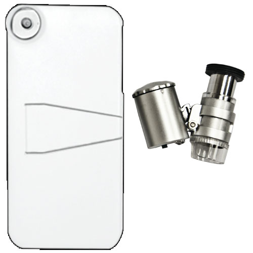 iPhone 5 Case + LED Binocular Microscope 60x - Coming soon