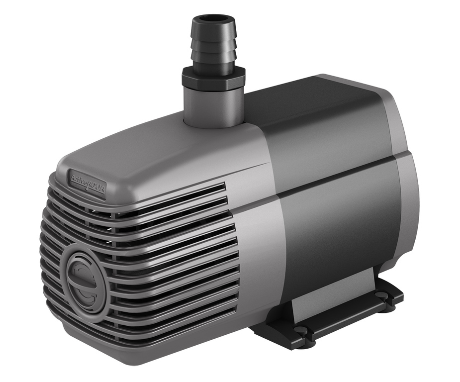 Hydrofarm active aqua submersible water pump 1000 gph for Inline hydroponic pump