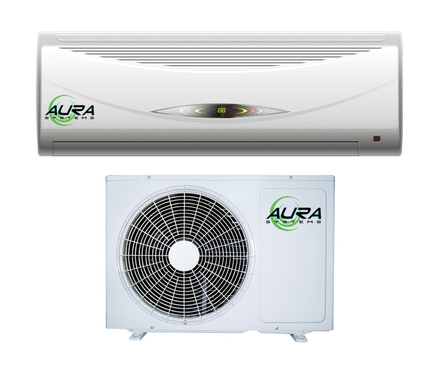 Indoor Heating And Cooling Units : Hydrofarm aura systems btu air conditioner w heat