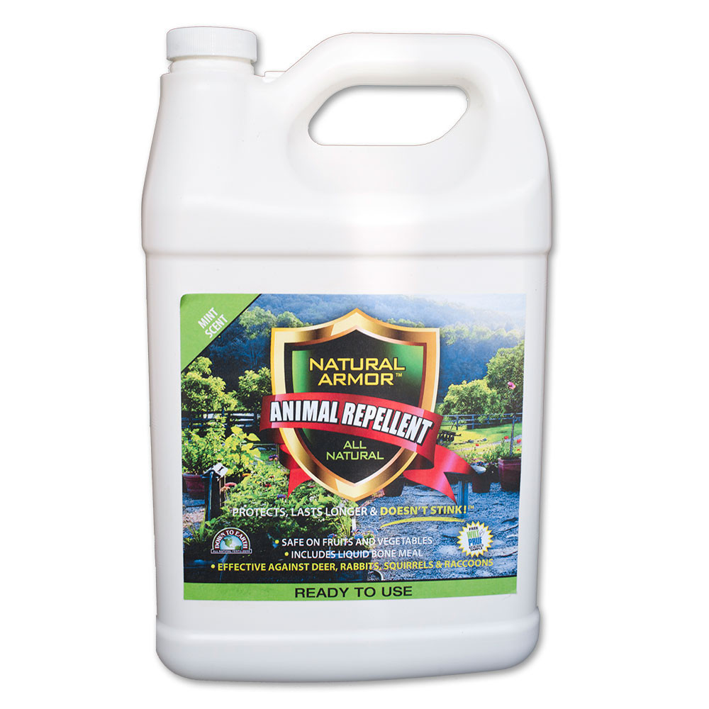 Natural Armor Animal Repellent - Ready to Use Spray, Gallon, Mint Scent