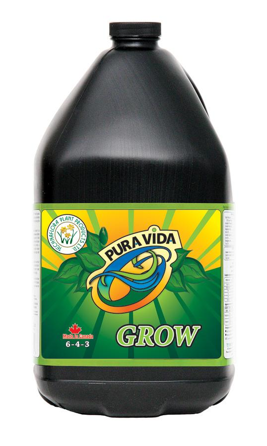 PURA VIDA GROW (6-4-3) 4 Liters (Case-4)