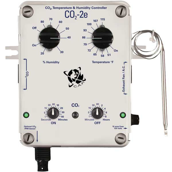 CO2 CONTROLLER W/ ELECTRONIC BOARD,PPM OPTION, TEMP & HUMIDITY 2 TIMER SYSTEM