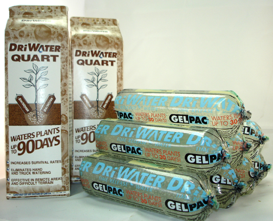 DRiWATER� Combo Pac 5: 2, 32oz Quarts of Gel, & 8, 9 oz. GelPac Gel Packs