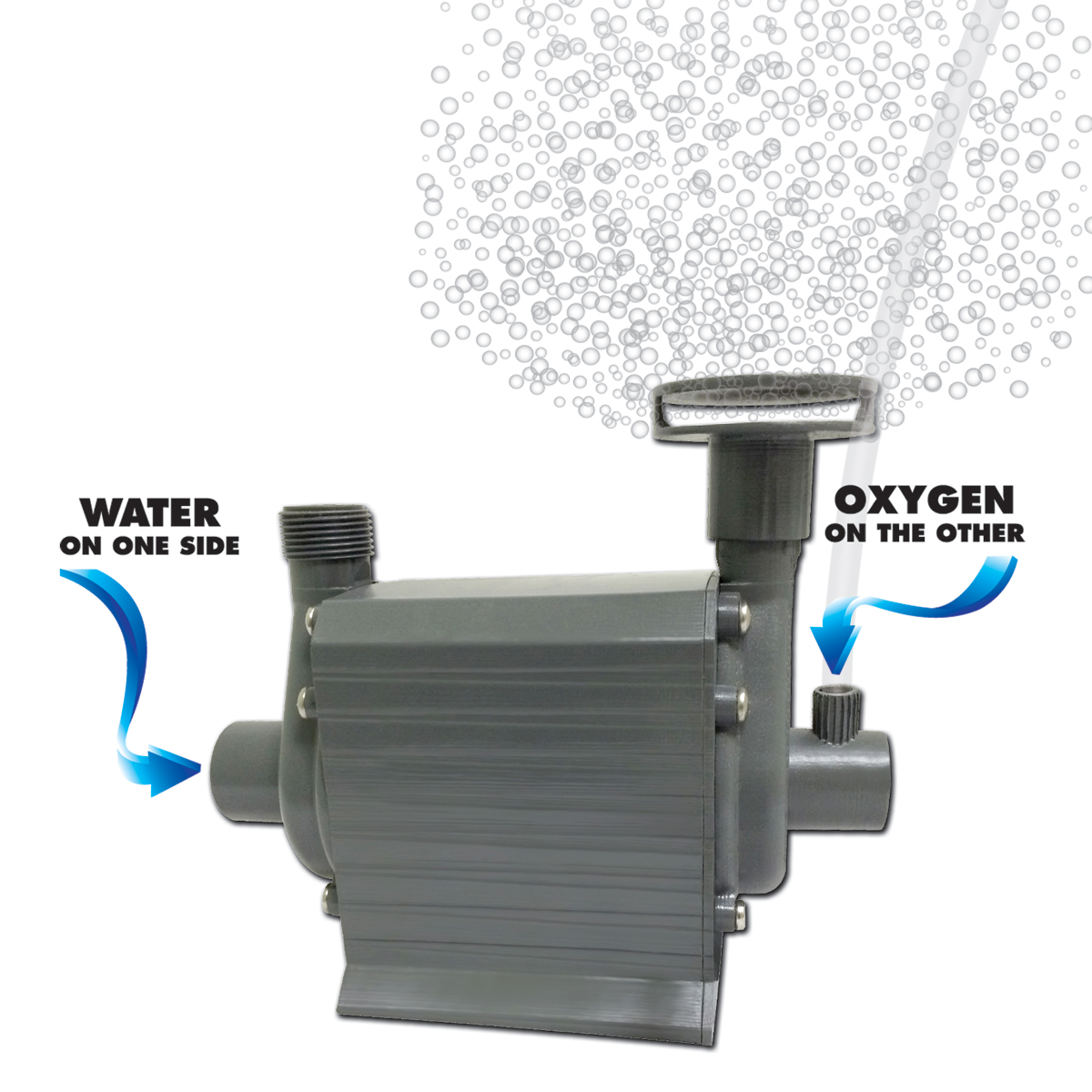 Danner supreme hydro air combo submersible water air for Submersible water pond garden pump filter