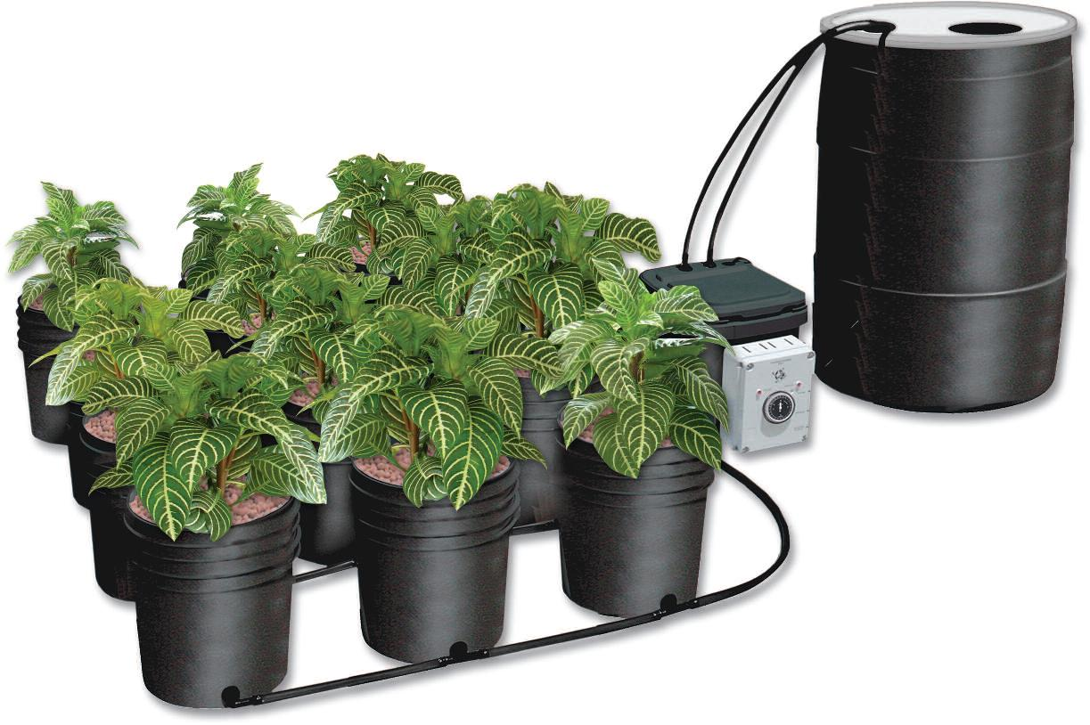 Ebb & Gro 12 Grow Site System Complete w/ 55 gallon reservoir - NEW Version