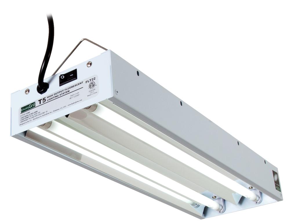 hydrofarm envirogro t5 2ft 2 tube fixture w bulbs hf flt22 fluorescent lighting lighting. Black Bedroom Furniture Sets. Home Design Ideas