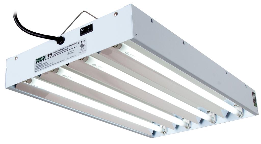 HydroFarm: EnviroGro T5 2FT- 4 Tube Fixture w/bulbs [hf-FLT24 ...