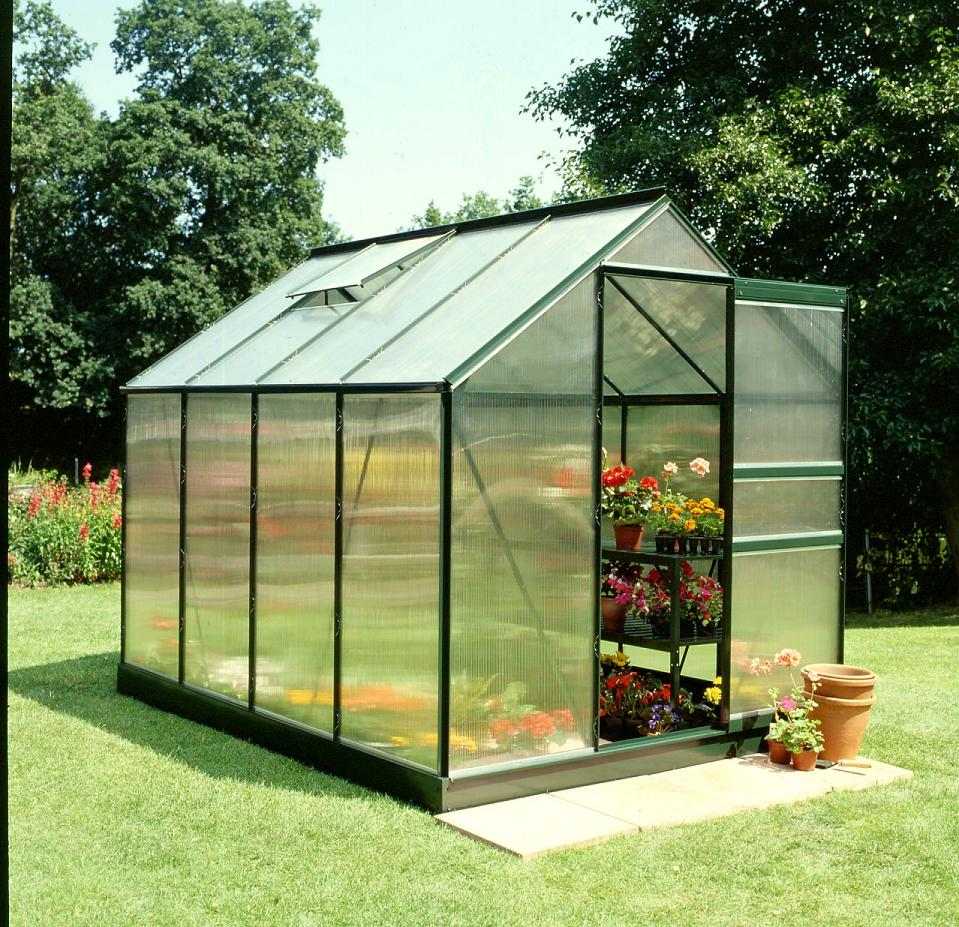 Popular 86 8x6 Green powder coat Greenhouse