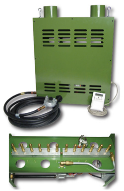 SC GAS PRO 6 BURNER NG CO2 GENERATOR WITH 400 CONTROLLER (SPECIAL ORDER ONLY)