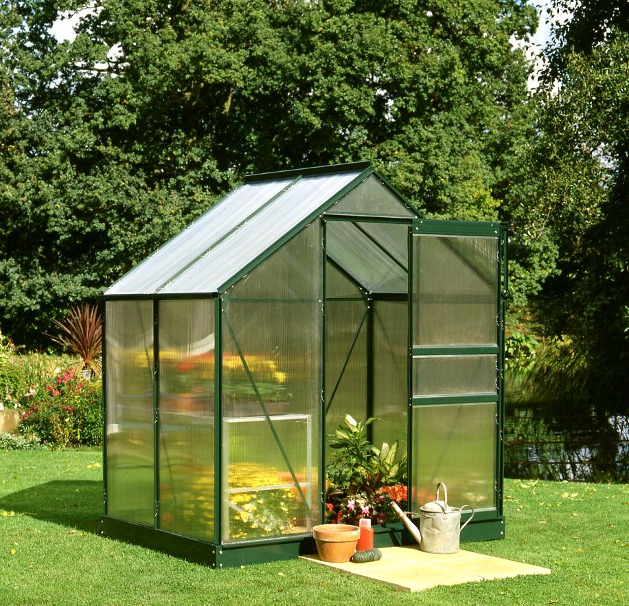 Popular 46 4x6 Green powder coat Greenhouse