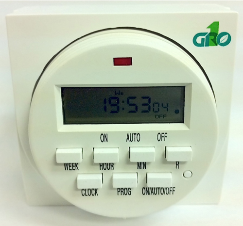 Gro1 Dual Outlet Digital Timer - 120V