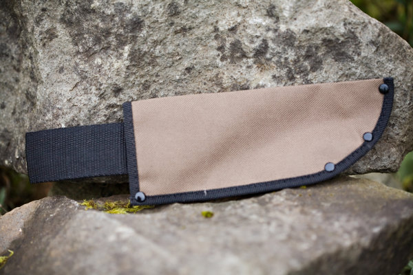 "Canvas Knife Sheath holds blade 7.75"" long x 3"" wide"