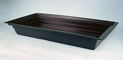 "BLACK GROW TRAY-STYRENE PLASTIC - 48"" X 48"" X 7"""