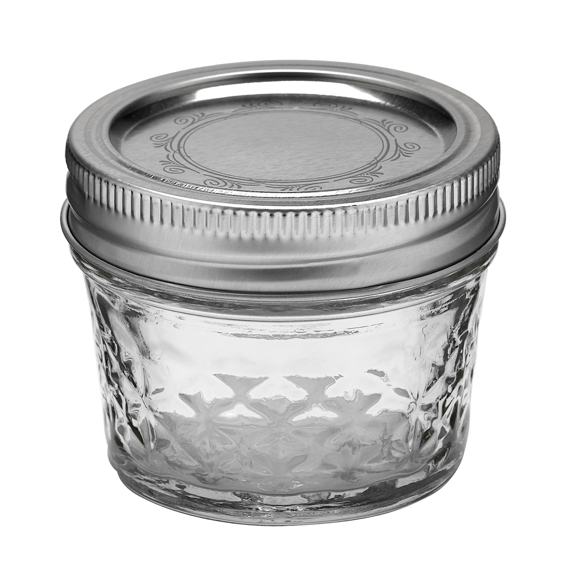 Ball Jar, 4 oz Quilted Crystal, pack of 12