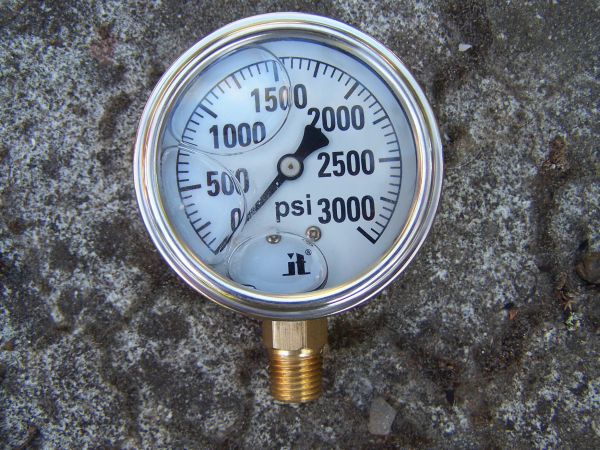 ZEN-TEK INSTRUMENTS 0-3000 PSI Liquid Presure Gauge